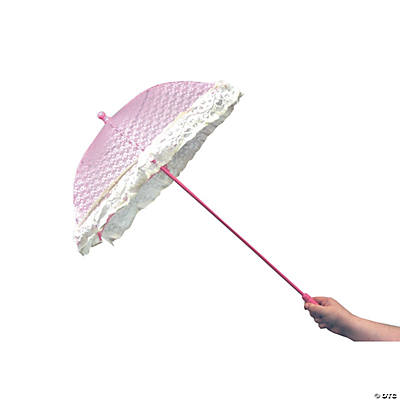 Pink Lace Parasol with Ruffles