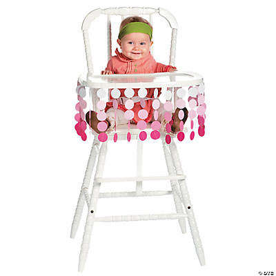 Pink Polka Dot High Chair Décor