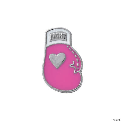 Pink Ribbon Boxing Glove Pins