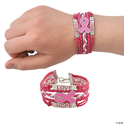 Pink Ribbon Layered Bracelets