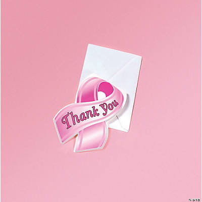 Pink Ribbon Thank You Cards  Oriental Trading  Discontinued