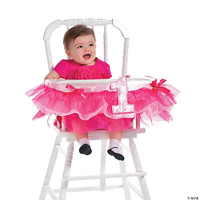 Pink Ruffle High Chair Décor