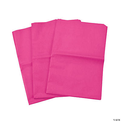 60 Pink Tissue Paper Sheets