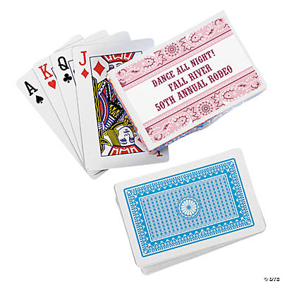 Pink Wild West Personalized Playing Cards