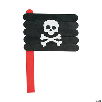 Pirate Flag Craft Stick Craft Kit