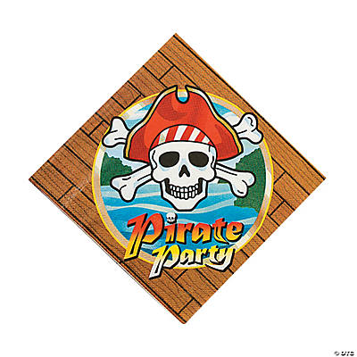 Pirate Party Luncheon Napkins