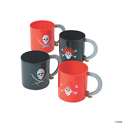 Pirate Plastic Mugs