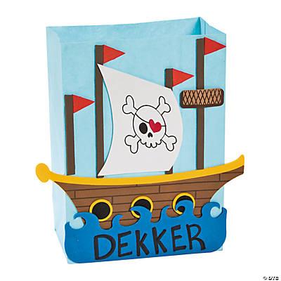 Pirate Ship Valentine Card Holder Craft Kit  Oriental Trading