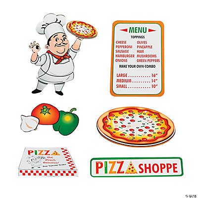 Pizza Party Cutouts