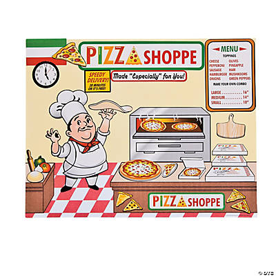 Pizza Shoppe Scene Stickers