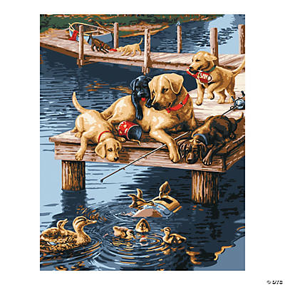 Plaid® Dock Dogs Paint By Number Kit