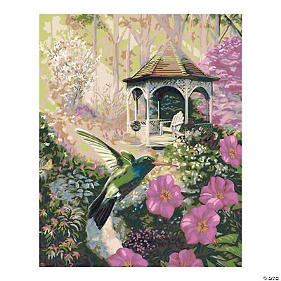 Plaid® Garden Hummingbird Paint By Number Kit