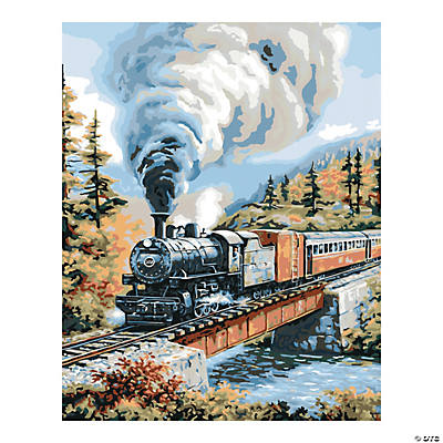Plaid® Steam Locomotive Paint By Number Kit