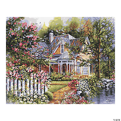 Plaid® Victorian Cottage Paint By Number Kit