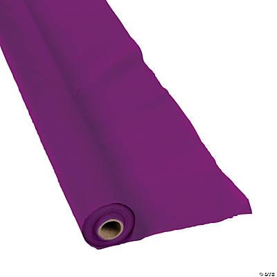 Plum Plastic Tablecloth Roll
