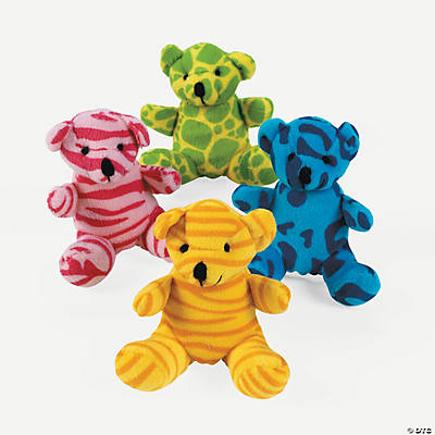 Plush Animal Print Bears
