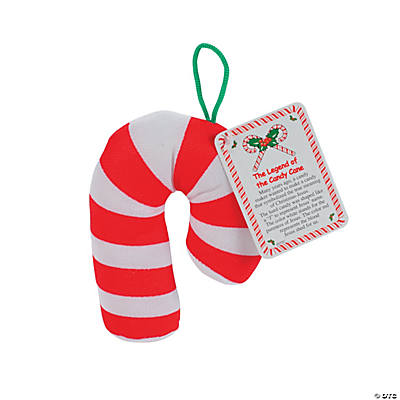 Plush Candy Cane Ornament Giveaways