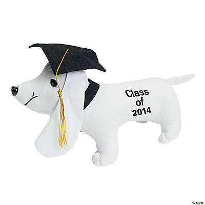 "Plush ""Class of 2014"" Graduation Autograph Dog"