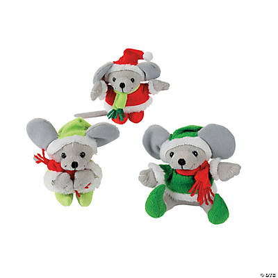 Plush Cozy Christmas Mice