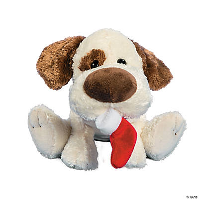 Plush Dog with Stocking