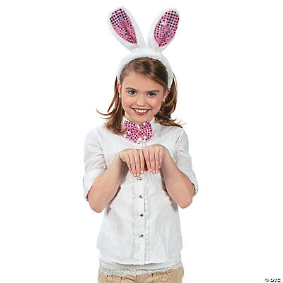 Plush Easter Bunny Costume Set