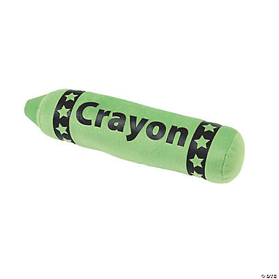 Plush Green Crayon