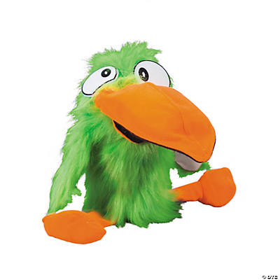 Plush Green Talking Toucan Hand Puppet