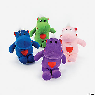 Plush Hippos with Hearts