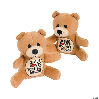 "Plush ""Jesus Loves You So Much!"" Bears"