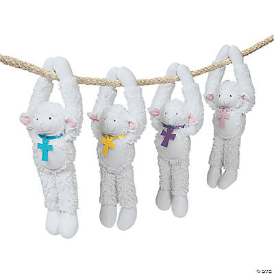 Plush Long Arm Religious Lambs