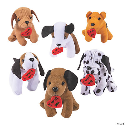 Plush Realistic Dogs with Heart