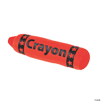 Plush Red Crayon