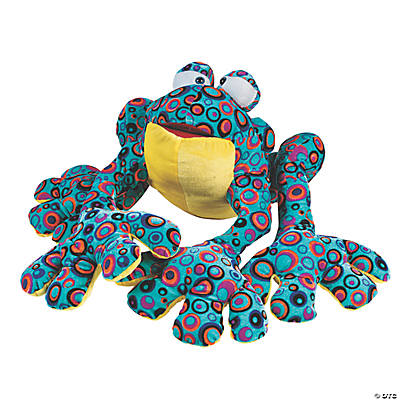 Plush Teal Spotted Frog