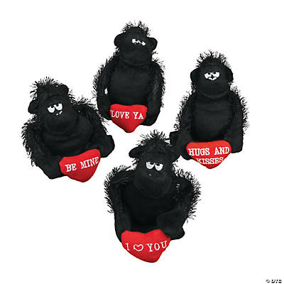 Plush Valentine Gorillas with Heart