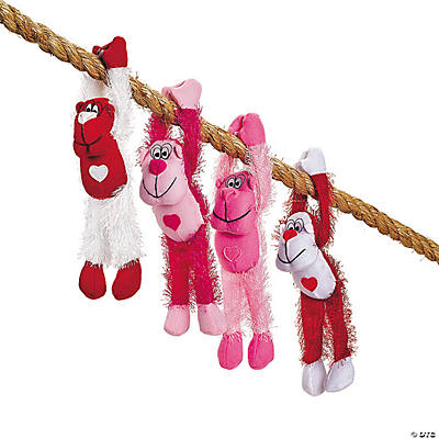 Plush Valentine Gorillas with Long Arms