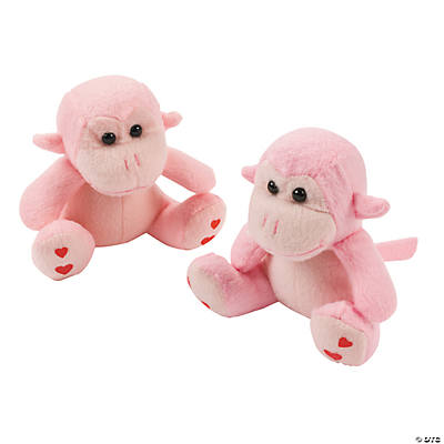 Plush Valentine's Day Monkeys