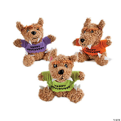 "12 Plush Werewolves with A ""Happy Howloween"" T-Shirt"