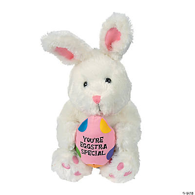 "Plush ""You're Eggstra Special"" White Bunny"