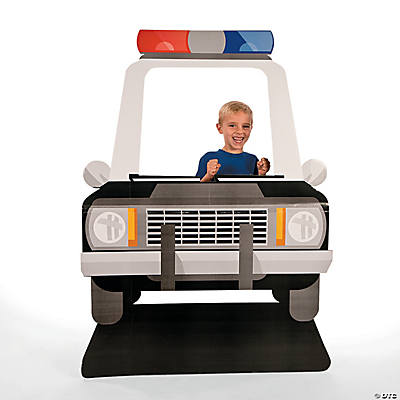police car photo stand up. Black Bedroom Furniture Sets. Home Design Ideas