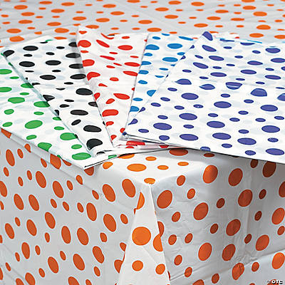 Polka Dot Plastic Tablecloths