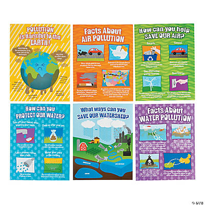 Pollution Poster Set Oriental Trading Discontinued