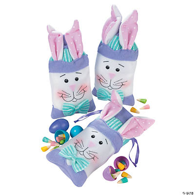 Poly-Cotton Bunny-Shaped Gift Bags