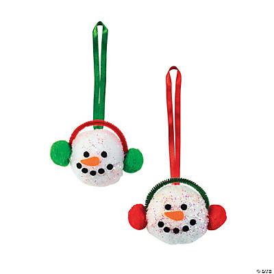 PomPom Snowman Head Christmas Craft Kit  Oriental Trading