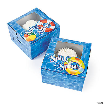 Pool Party Cupcake Boxes