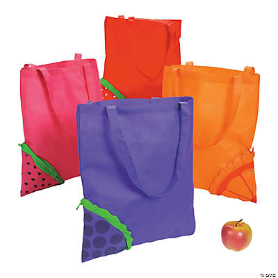 Pop-Out Fruit Tote Bags