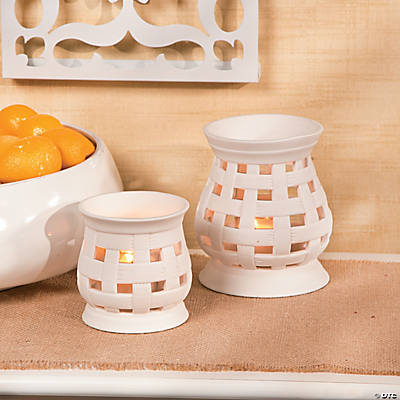 Porcelain Bisque Tea Light Holders