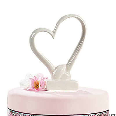 Porcelain Heart Cake Topper