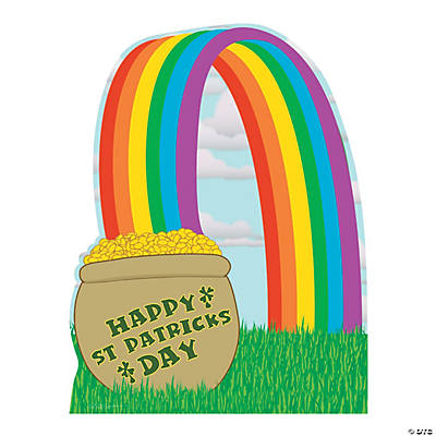 Pot of Gold with Rainbow Cardboard Stand-Up