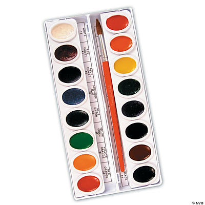 Prang Oval 16-Color Watercolor Set