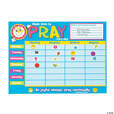 Prayer Chart Sticker Scenes